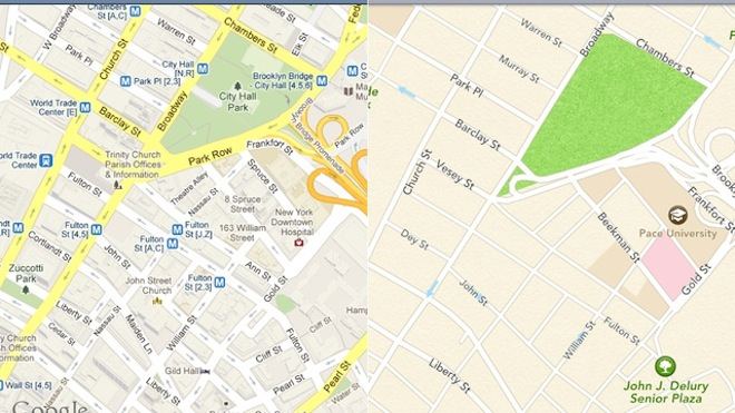 Google Maps vs Apple Maps   Siri iOS 6 Google Maps Google Flyover Apple Maps Apple