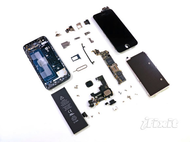 Как разобрать iPhone 5   ремонт разобрать spunger Lightning Connector iPhone 5 ifixit Apple a6