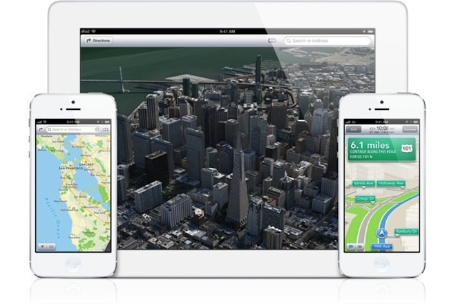 Ужасы новых Apple Maps   Siri Passbook iPhone 5 iPad 3 Google Maps Apple Maps Apple