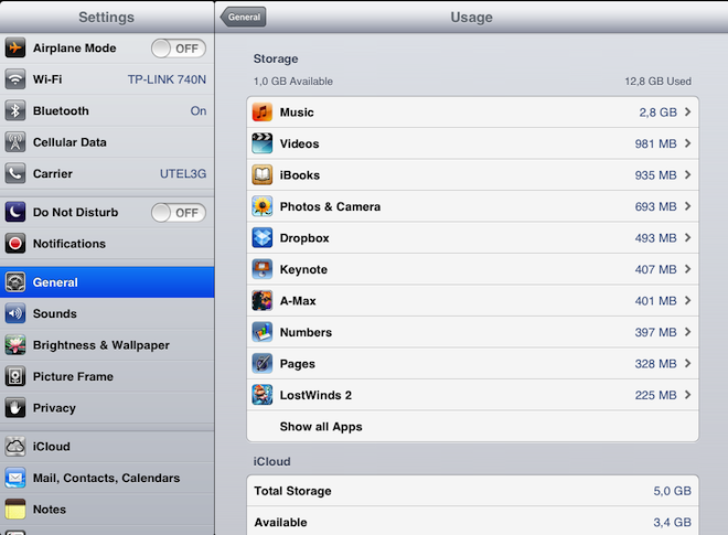 Следим за свободным местом на iOS устройствах   iWork iTunes Match iTunes iPhone iPad iMovie Dropbox Apple