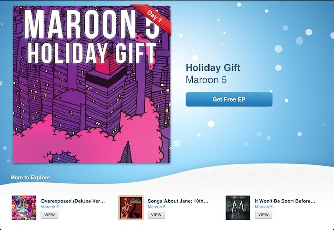 Новогодние подарки от Apple: Maroon 5   Windows maroon 5 Mac iOS Apple