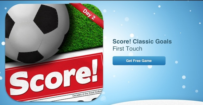 Новогодние подарки от Apple: игра Score   Mac Windows iTunes Store AppStore Apple 12 дней