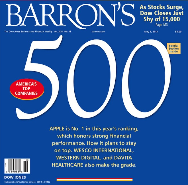 Apple возглавила Barron`s Top 500   iTunes Store Barron`s 500 Apple App Store